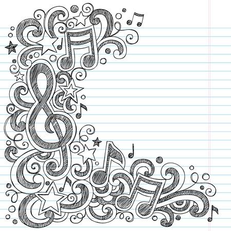 notes de musique: Notes de musique G Clef Illustration