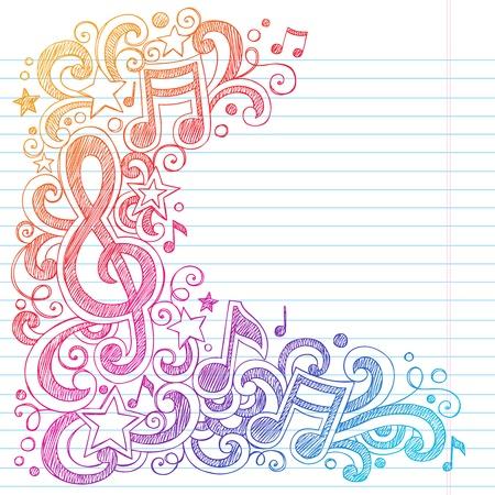 nota musical: Notas de la música del Clef de G