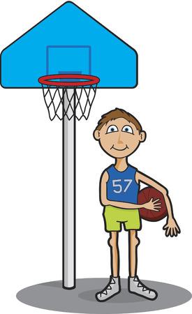 Vector illustration of a basketball player. Illustration