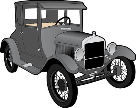 antique car: Illustration of a Ford Model T. Illustration
