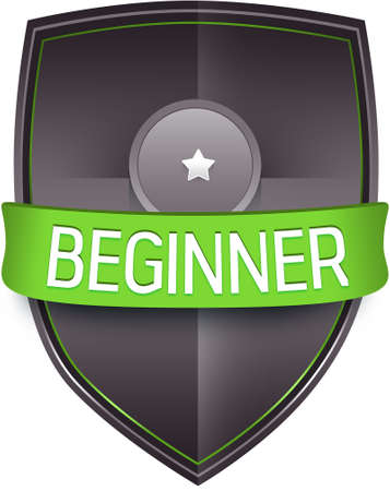 beginner: Beginner emblem illustration