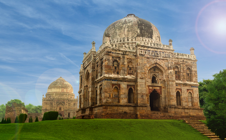 mughal empire: Famous heritage place - Sheesh Tomb of Lodhi Garden in delhi Stock Photo