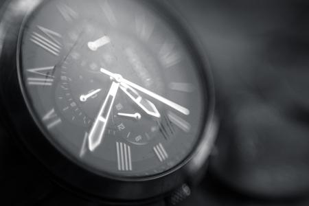 Chronograph hand watch close up makro shot
