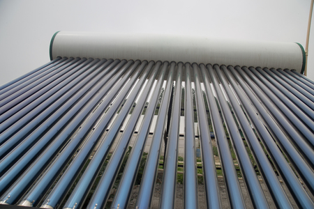 Evacuated Glass Tubes - Solar Water Heater installed in Indian village