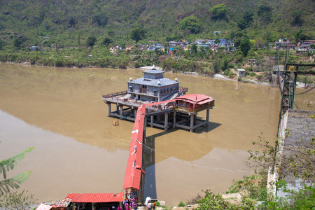 View of dhari devi temple at dhari srinagar, uttrakhand, india