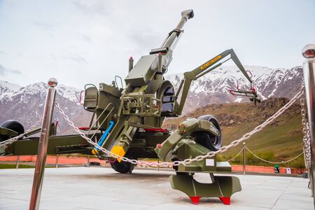 Bofors cannon kept on hall of fame museum, Ladakh, India Editoriali