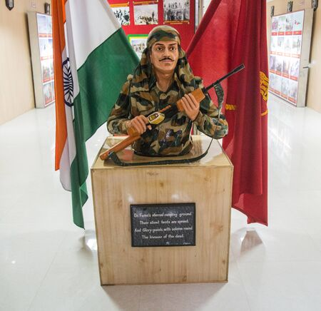 LEH, LADAKH, INDIA, MAY 13, 2018. Hall of fame museum and War memorial in Leh, This is a place of remembrance of the soldiers in Indo- Pak wars.