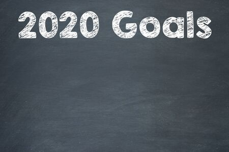 New Year 2020 Goals on Blackboard Background. 2020 Resolutions on Chalkboard Background new year concepts