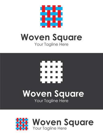 textil: Woven Square Company Logo
