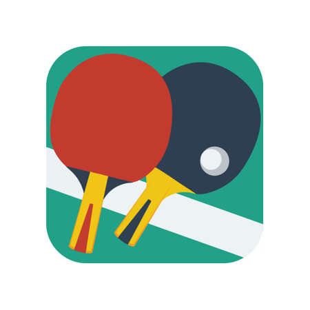 Table Tennis Racket 向量圖像
