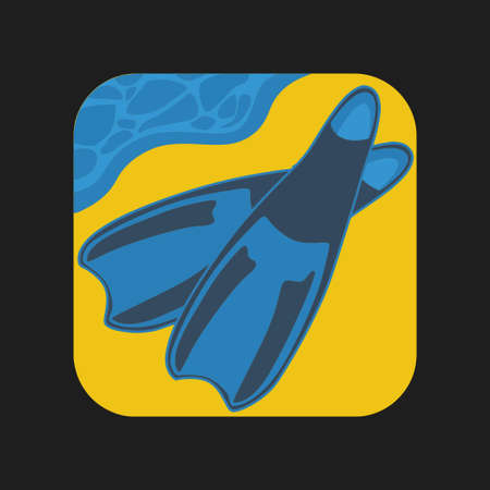 er: Diving fins icon