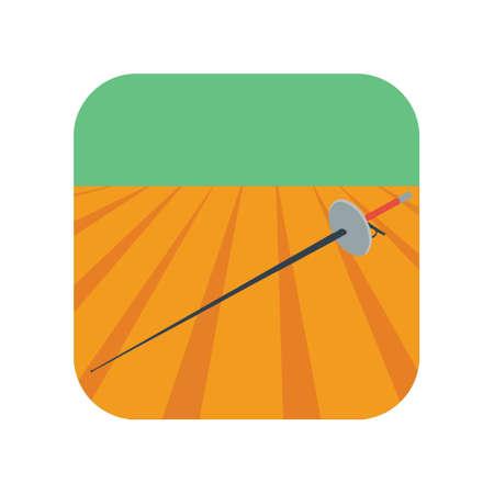 Sword fencing symbol