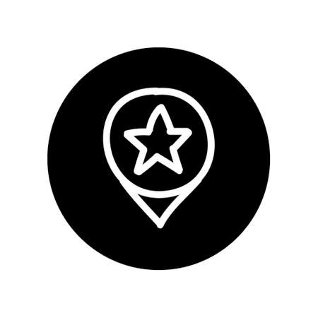Star Location Icon Hand Drawn Illustration