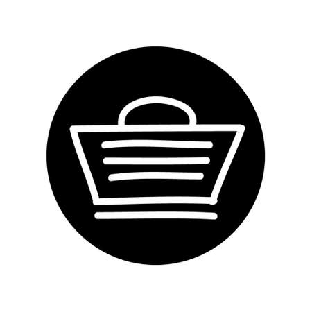 Shopping Cart Icon hand Drawn Illustration