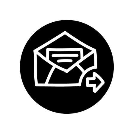 nternet: SEO hand drawn mail icon