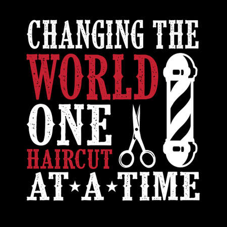 Changing The world one haircut Stock Photo