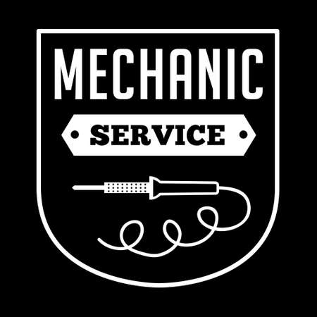 Mechanic badge, good for print.