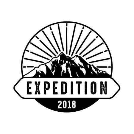 Adventure badge, good for print. Illustration