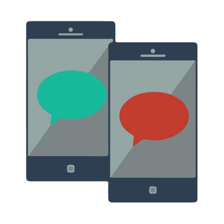 Chat Icon, Application Color icon Ilustração
