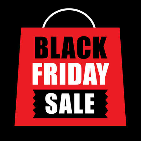 Black Friday Banner ad for your business Event, good for print Stock Illustratie