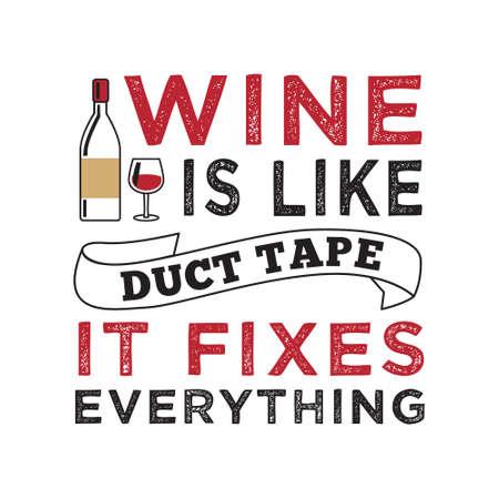 Cita divertida de vino y diciendo. 100 Vector, lo mejor para sus productos como diseño de camisetas, tazas, almohadas, carteles y otros. Ilustración de vector
