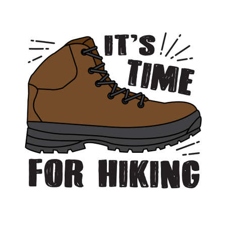 Hiking Quote and saying. It s time for hiking Banco de Imagens - 117044037