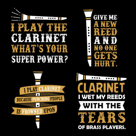 Clarinet Quotes Saying, vector best for print design like t-shirt, mug, frame and other