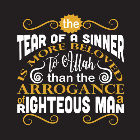 Muslim Quote. Tear of a sinner to Allah.