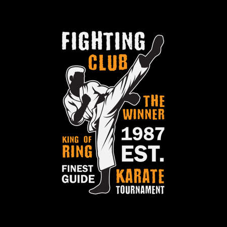 Fighting or Karate Club. Vector Template good for your t shirt event.