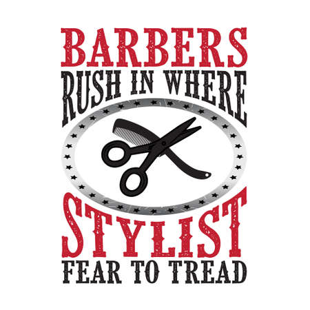 Barbers rush in where stylist Illustration