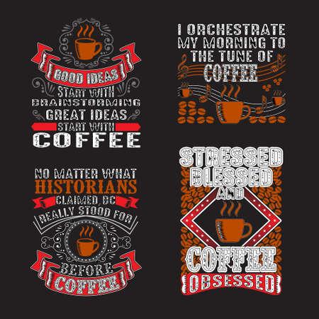 Paquete de cotizaciones y refranes de café