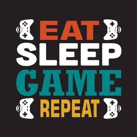 Spelcitaat en gezegde. Eet slaapspel herhalen.