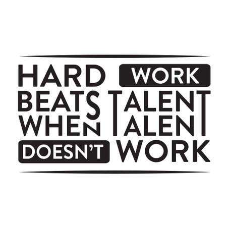 Motivation Slogan and Quote. Hard work beats talent 스톡 콘텐츠 - 152772756