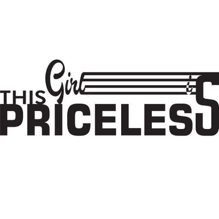 this girl is priceless slogan graphic illustration, good for tee print. 일러스트