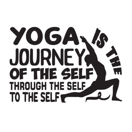 Yoga Quote. Yoga journey of the self 스톡 콘텐츠