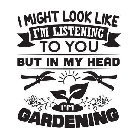 Gardening Quote. Never underestimate an old woman who loves gardening 스톡 콘텐츠