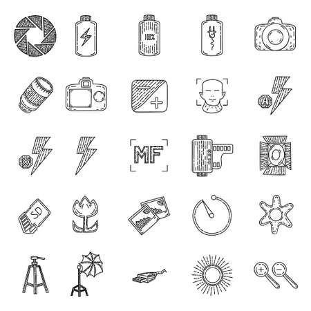 Photography Set Icon Vector