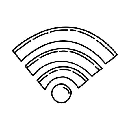 Wifi Outline Hand Drawn Icon Set Vector. 矢量图像