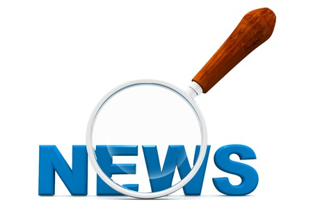 News and magnifying glass photo