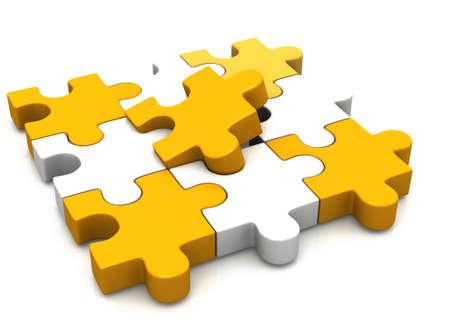 the explanation: colorful puzzle pieces