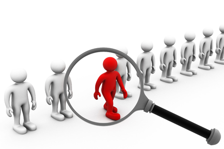 candidates: Job search and career choice employment concept