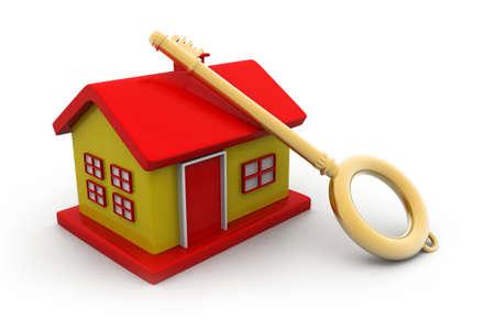 keyholder: Home key concept. 3d illustration
