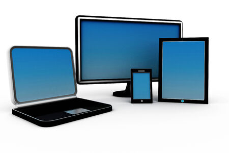 3d illustration of Computer Devices  illustration
