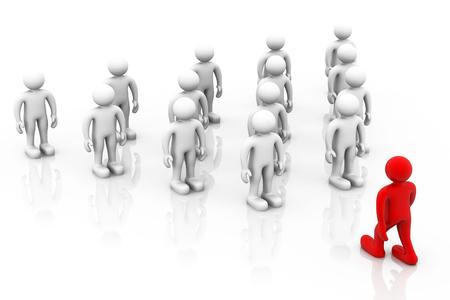 Team leader concept. Teamwork.  Stock Photo