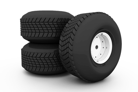 4 wheel: Stack of three wheel  Tyres for car