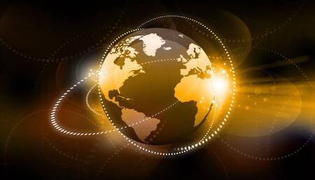 fibber: Global business network concept. Globalization concept