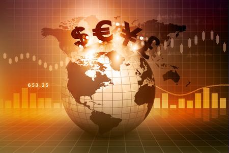 Währungssymbole auf der Erde. Finanziellen Hintergrund Standard-Bild - 27718174