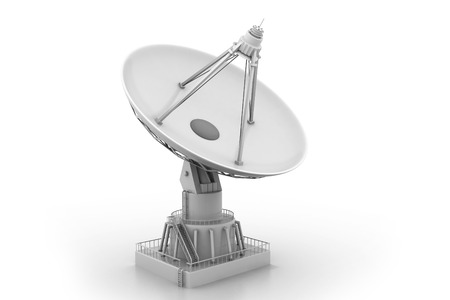 transmitter: Satellite Communication Stock Photo