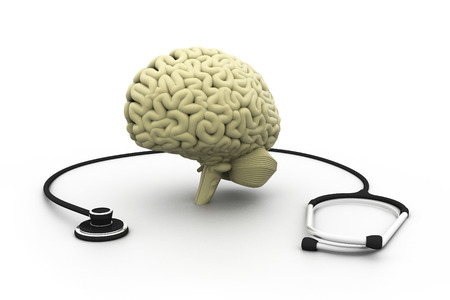 cut out device: Human Brain and Stethoscope