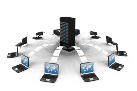 server technology: file sharing concept, Data transferring